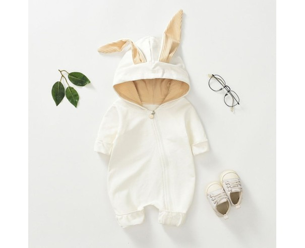 Salopeta White Rabbit - alb